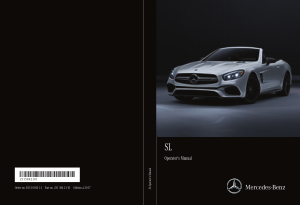 2017 Mercedes Benz SL Operator Manual